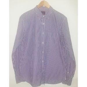 Untuckit Purple and White Shirt Sz L